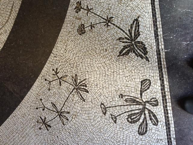 Mosaikgolv i Carl och Olga Milles matsal