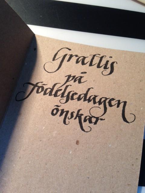 skriva grattis kalligrafi | tid för mig skriva grattis